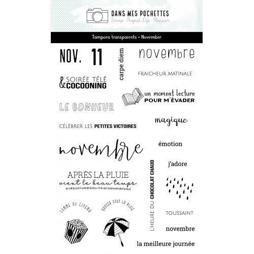 Tampon clear - Novembre -...