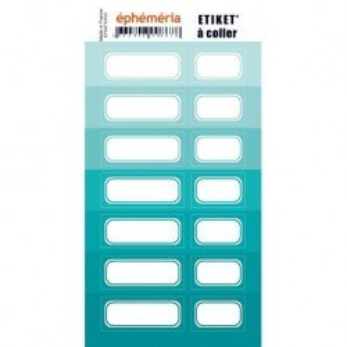 Planche d'étiquettes auto-collantes turquoise - Ephemeria