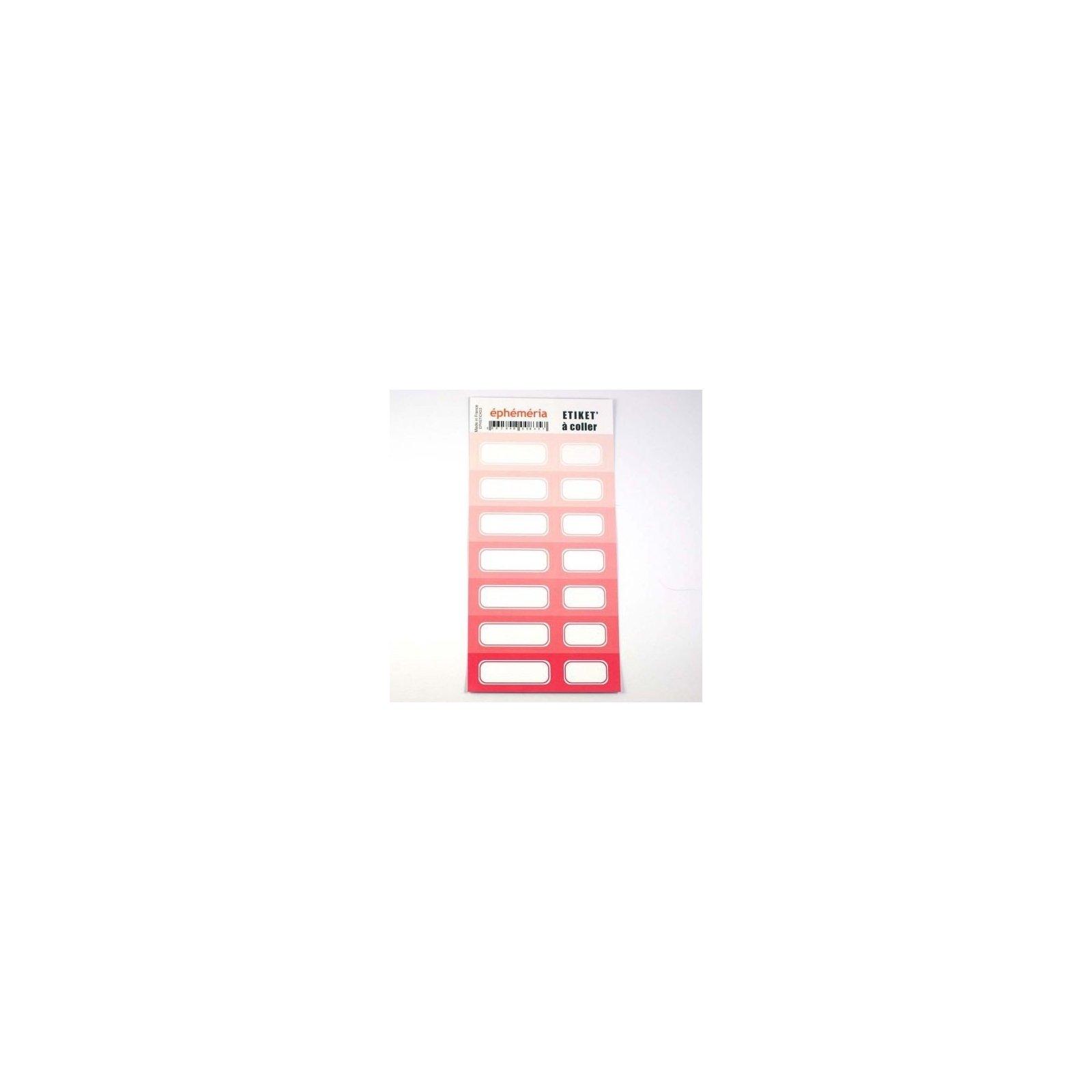 Planche d'étiquettes auto-collantes rose - Ephemeria