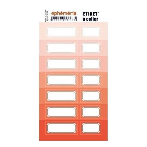 Planche d'étiquettes auto-collantes corail - Ephemeria