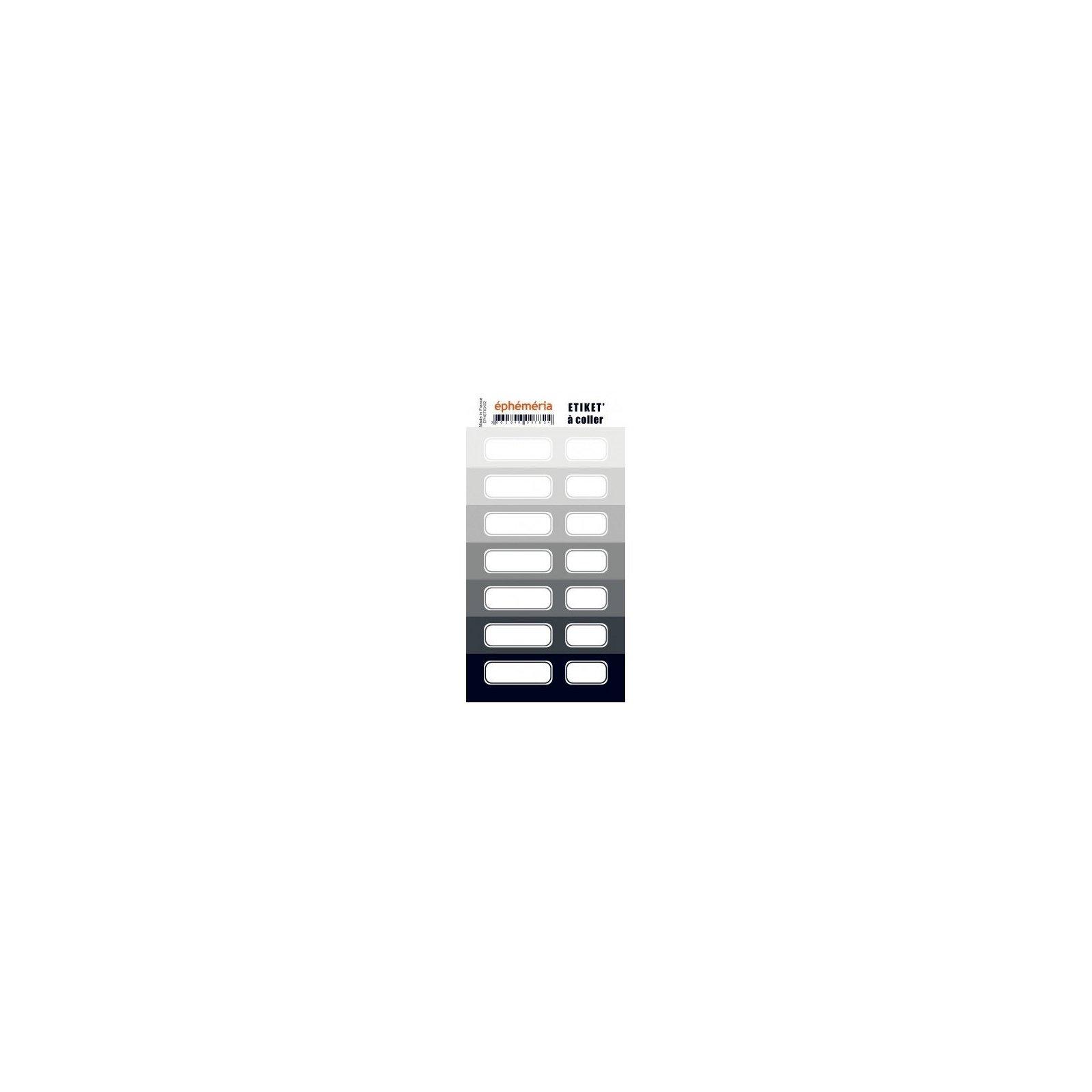 Planche d'étiquettes auto-collantes grises - Ephemeria