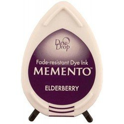 Mini encreur violet Memento Dew Drop - Elderberry - Tsukineko