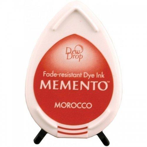 Mini encreur rouge orangé Memento Dew Drop - Morocco - Tsukineko