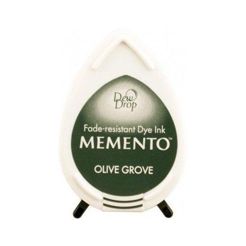 Mini encreur vert olive Memento Dew Drop - Olive grove - Tsukineko