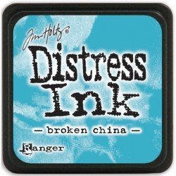 Mini encreur bleu Distress - Broken China - Ranger