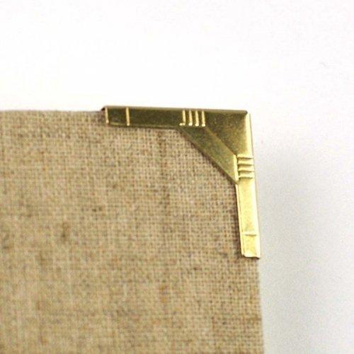 Coin en métal art déco doré 20x20 mm - Ephemeria