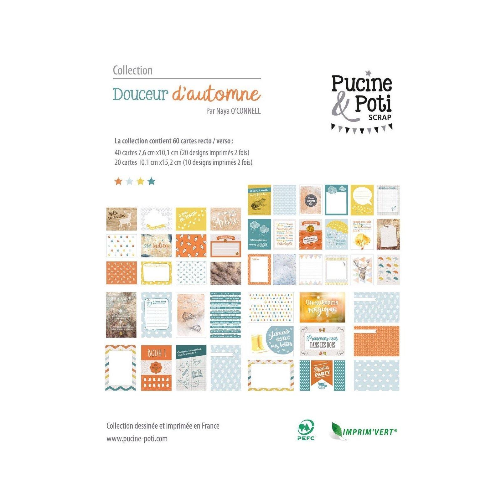 Assortiment de cartes PL - Douceur d'automne - Pucine & Poti