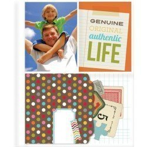 Pochettes Sn@P! Pocket pages 15x20 - 2 compartiments 7,5x10 + 1 compartiment 10x15 - Simple Stories