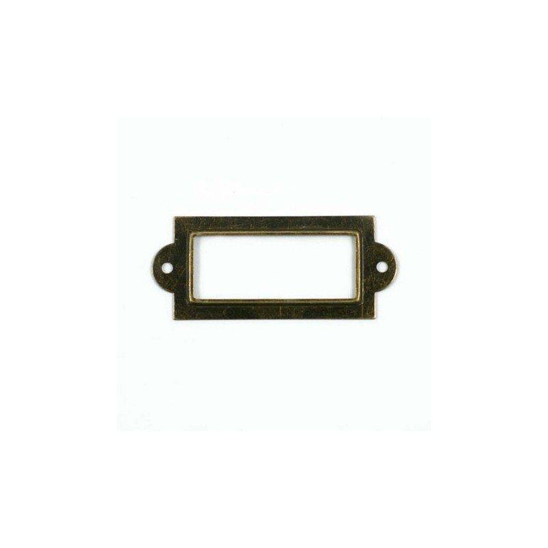 porte tiquette en bronze vieilli ephemeria dans mes. Black Bedroom Furniture Sets. Home Design Ideas