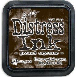 Mini encreur marron Distress - Ground Espresso - Ranger