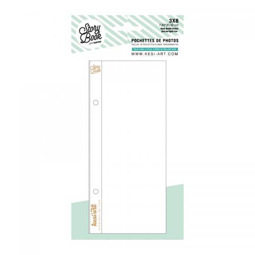 Pochettes Story Book 15x20 cm - 6x8 - 1 compartiment 7x20 cm - Kesi'art