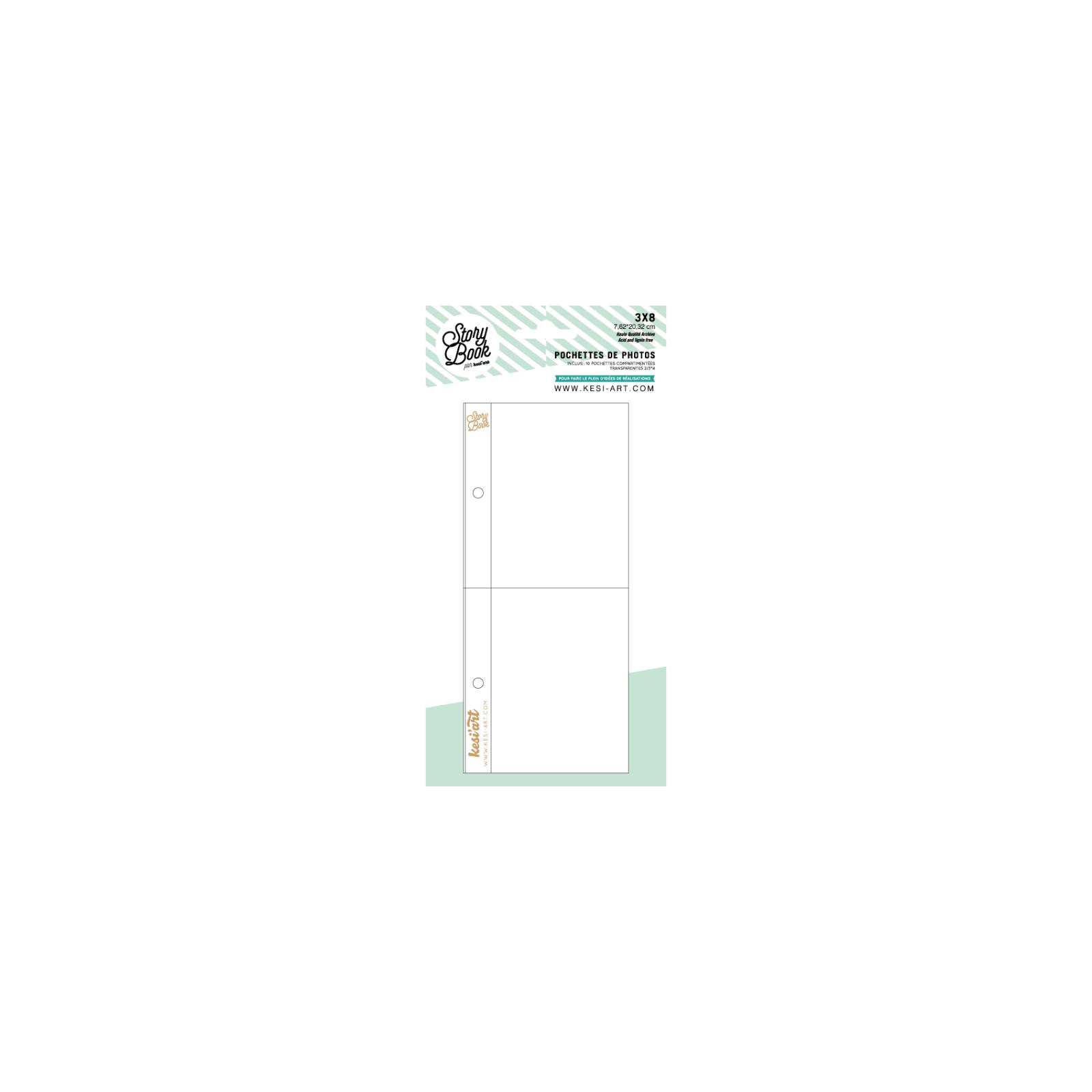 Pochettes Story Book 15x20 cm - 6x8 - 2 compartiment 7x10 cm - Kesi'art