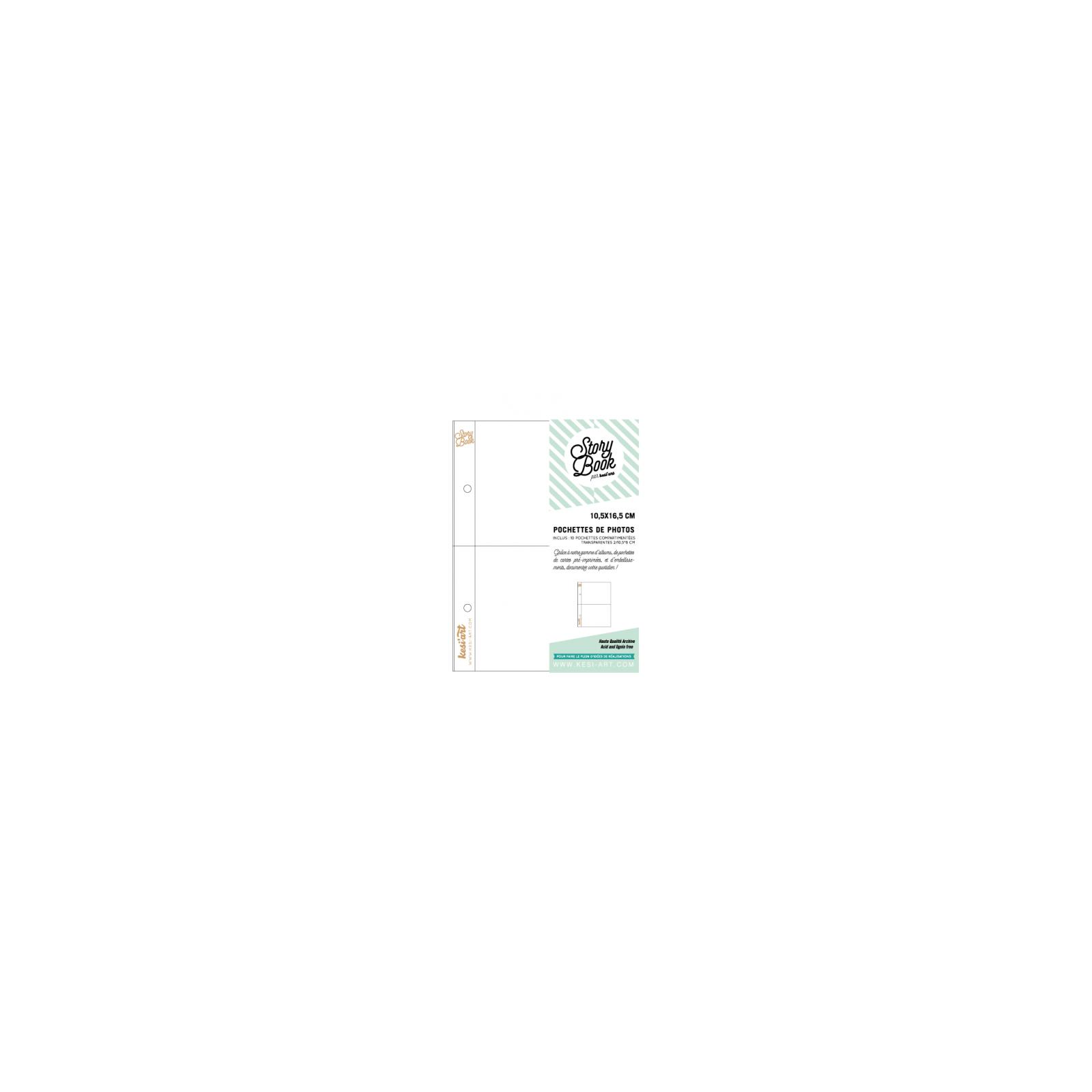 Pochettes Story Book 15x20 cm - 4x6 - 2 compartiments 10,5 x 8 - Kesi'art