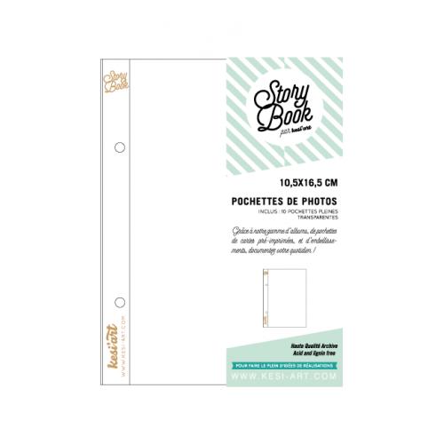 Pochettes Story Book 10x16 cm -1 compartiment 10,5 x 16,5 - Kesi'art