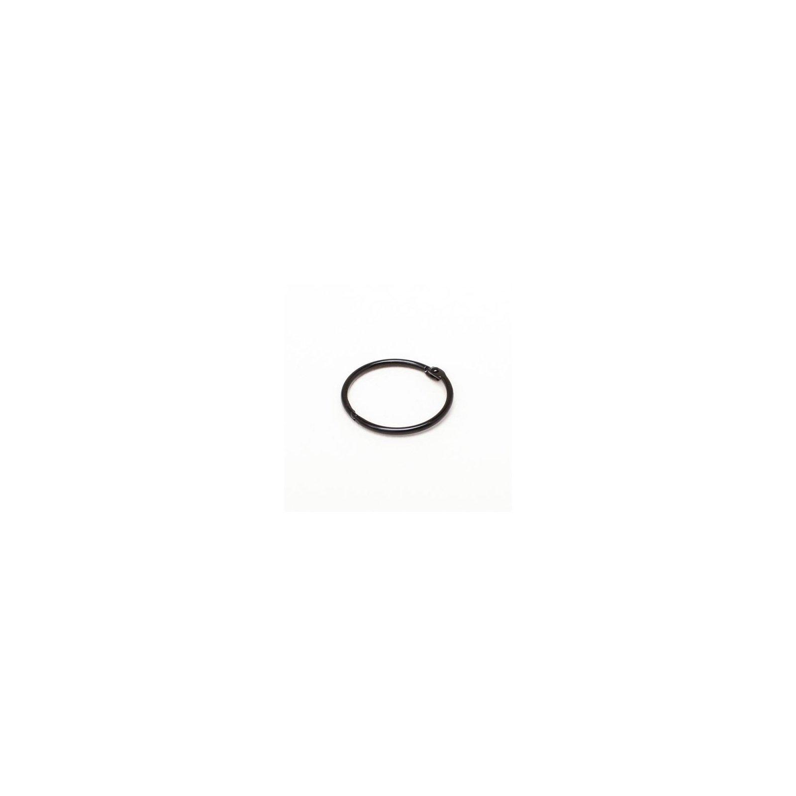 Anneau brisé noir - Diamètre 38 mm - Argent - Ephemeria