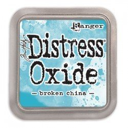 Grand encreur bleu Distress Oxide - Broken China - Ranger