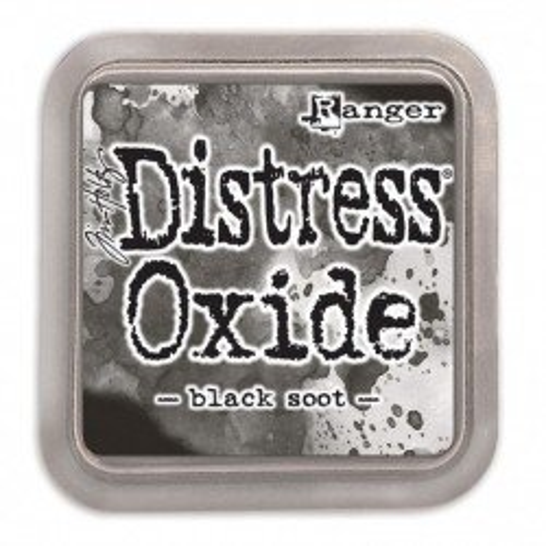 Grand encreur noir Distress Oxide - Black soot - Ranger