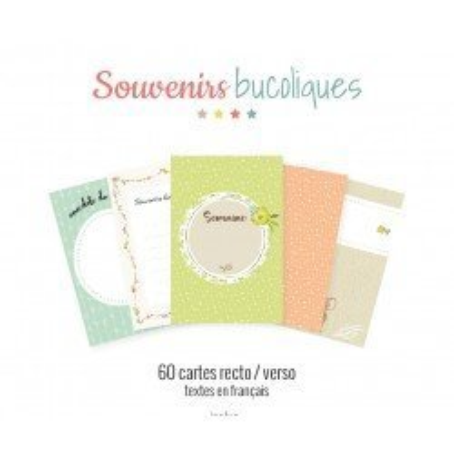 Assortiment de cartes Project Life - Souvenirs bucoliques - Pucine & Poti