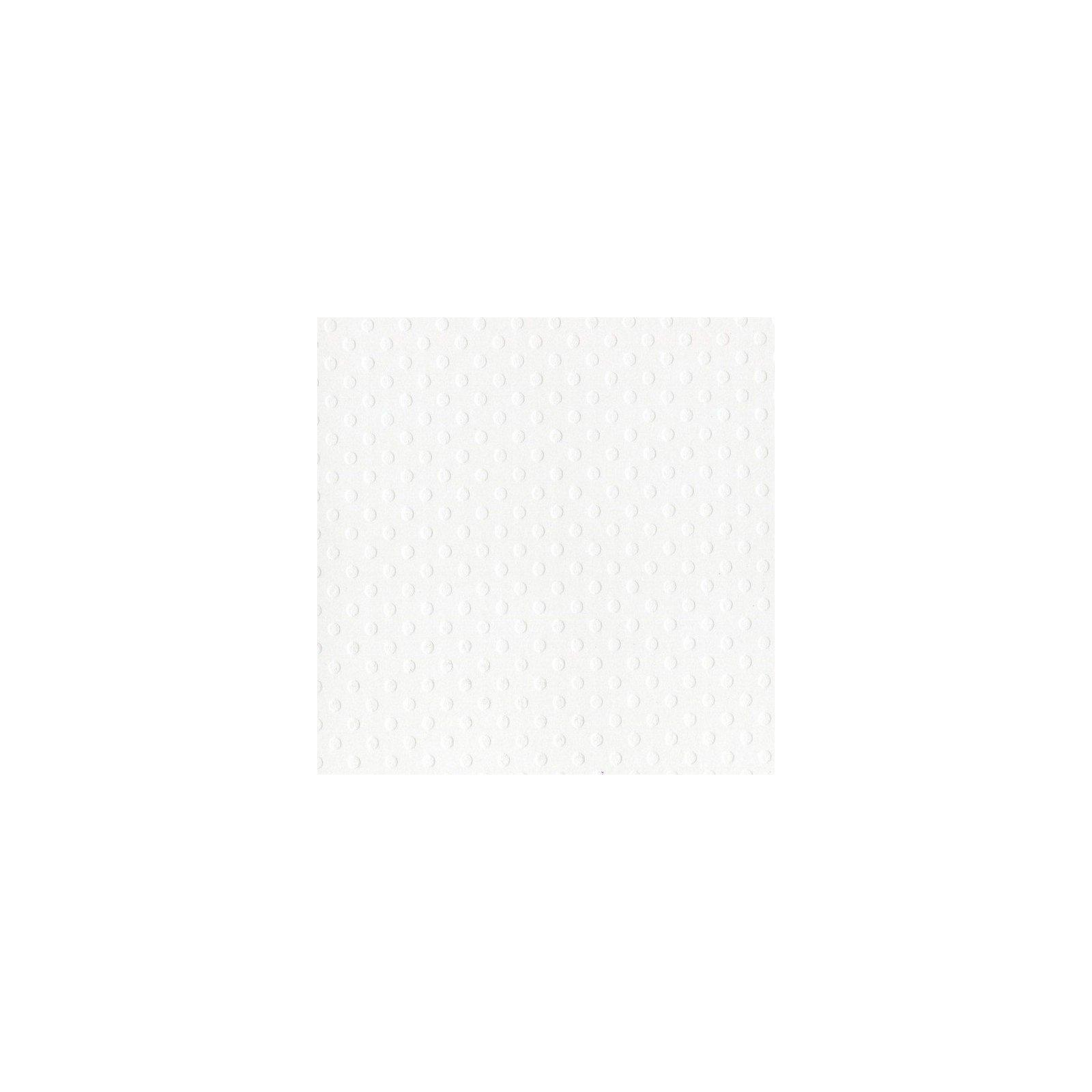 Papier blanc - « Salt » - Dotted Swiss - Bazzil Basics Paper