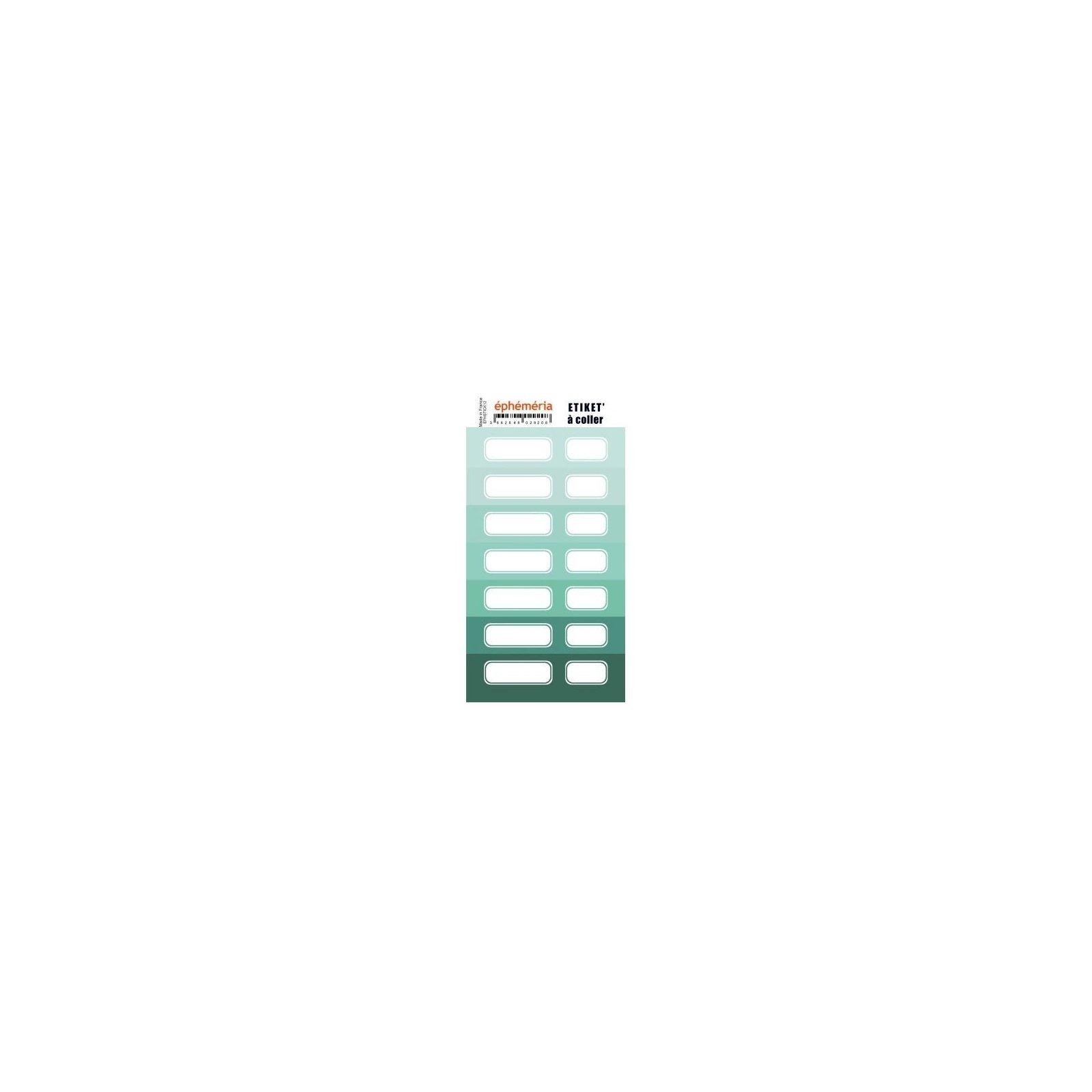 Planche d'étiquettes auto-collantes menthe - Ephemeria