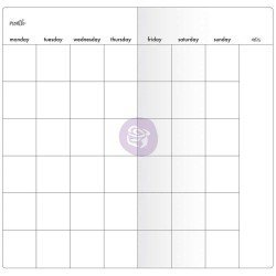 Recharge carnet - Notebook - Monthly W/White Paper - My Prima Planner