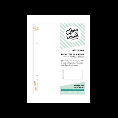 Pochettes Story Book 10x16 cm - Dépliant 3 pochettes - Kesi'art