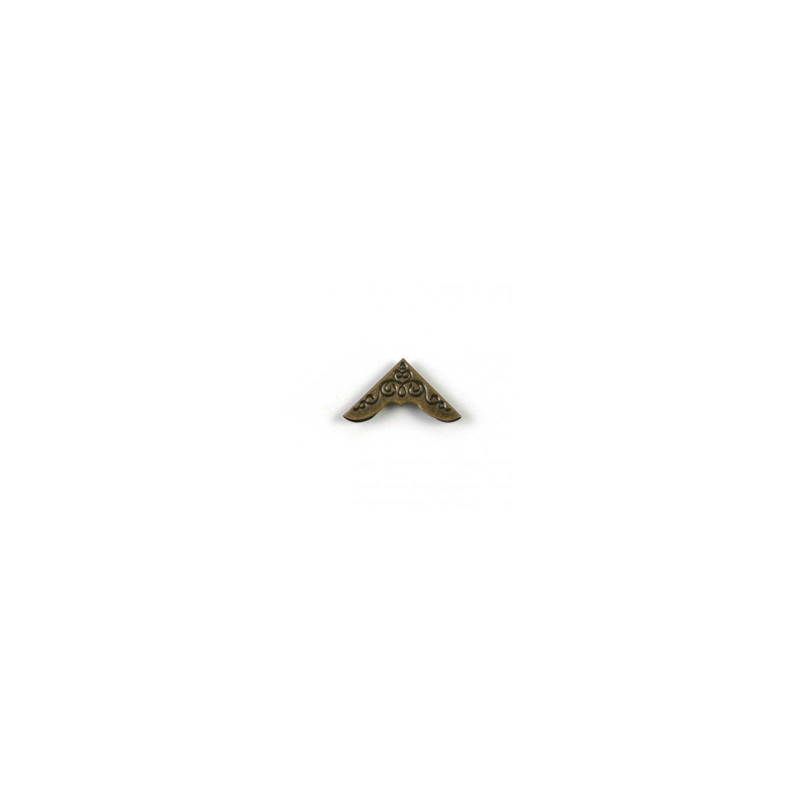 Coin en bronze travaillé - 30x30 mm - Ephemeria