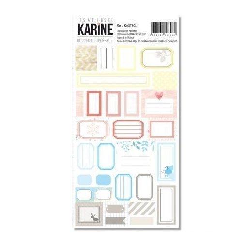 Planche de stickers étiquettes - Douceur hivernale - Les ateliers de Karine
