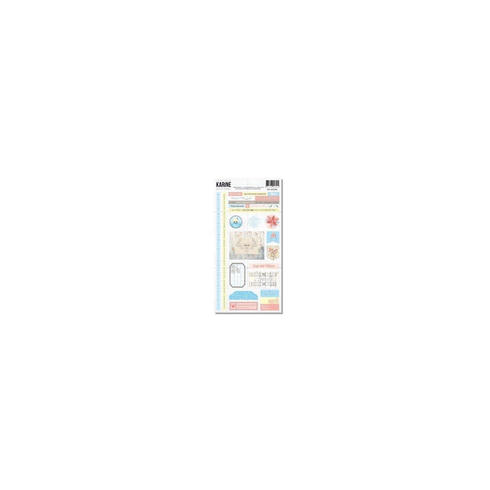Planche de stickers - Douceur hivernale - Les ateliers de Karine
