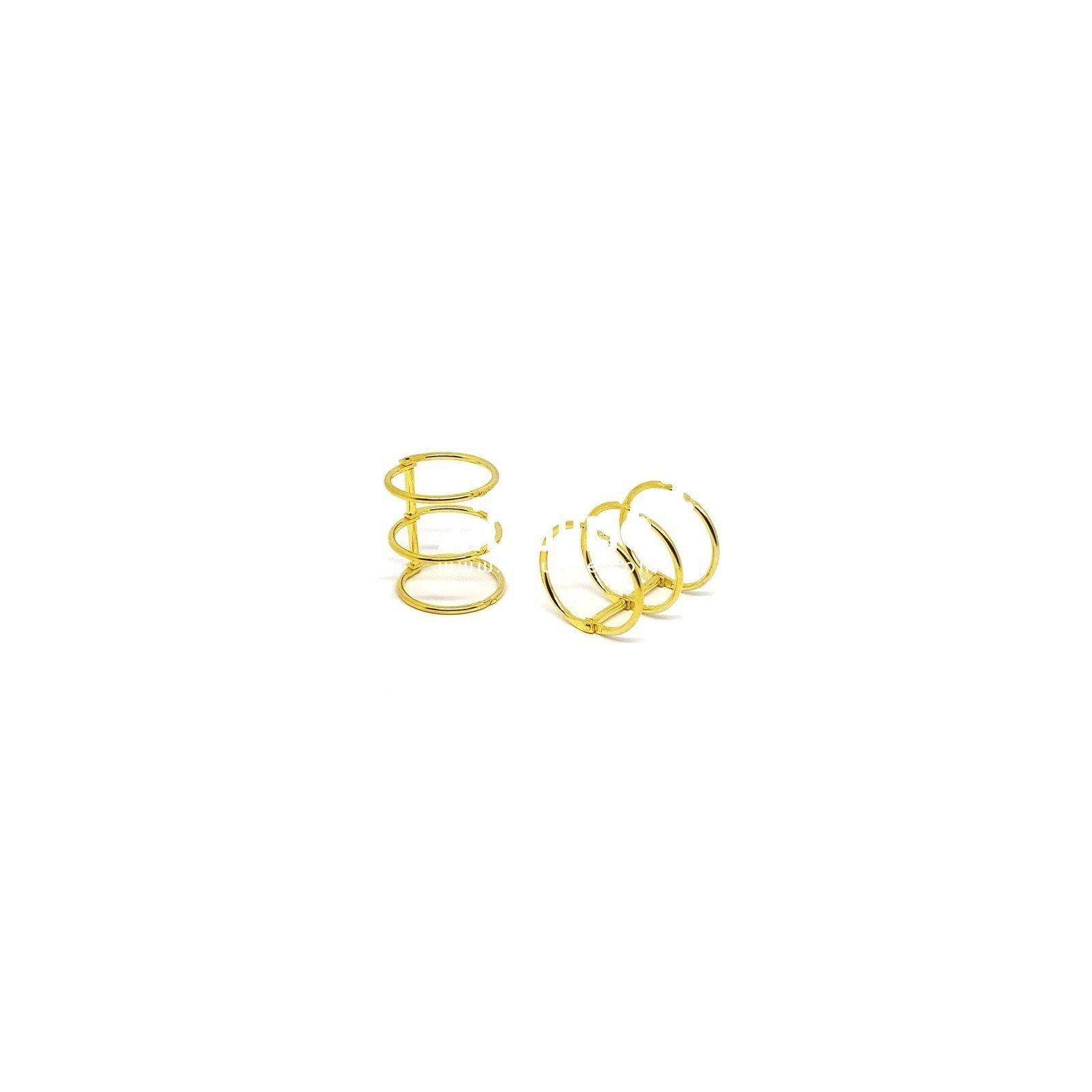 Reliure 3 anneaux 3 cm - Doré - Zibuline
