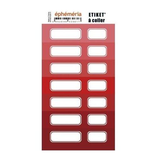 Planche d'étiquettes auto-collantes - Nuance rouge - Ephemeria