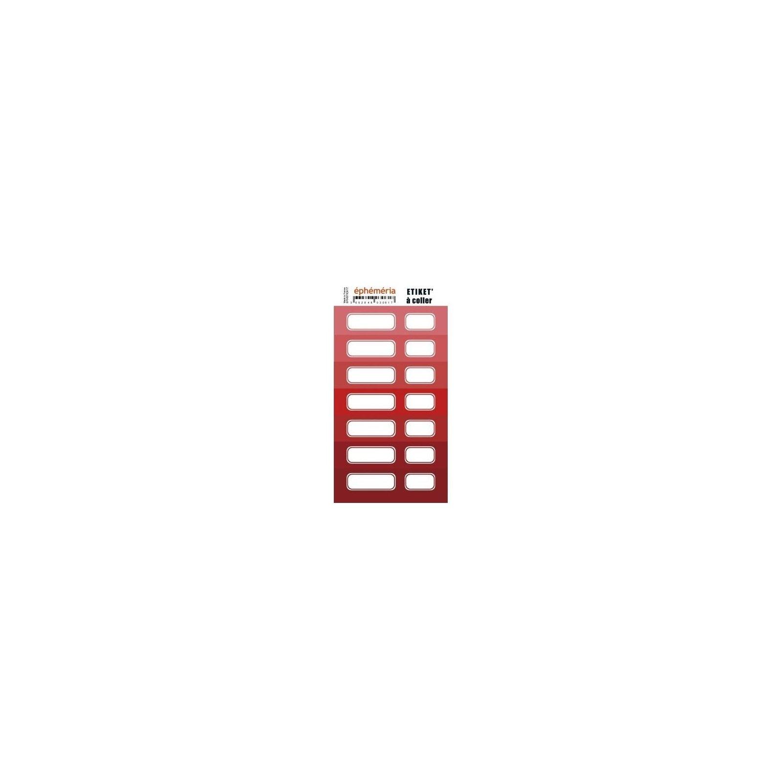 Planche d'étiquettes auto-collantes - Nuane rouge - Ephemeria