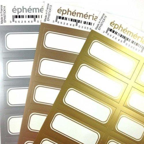 Planche d'étiquettes auto-collantes - Argent - Ephemeria