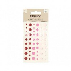 Enamel dots - Rose / Rouge - Zibuline