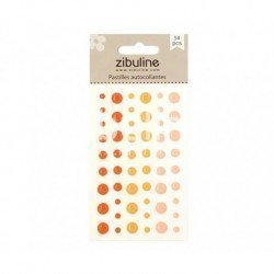 Enamel dots - Orange - Zibuline