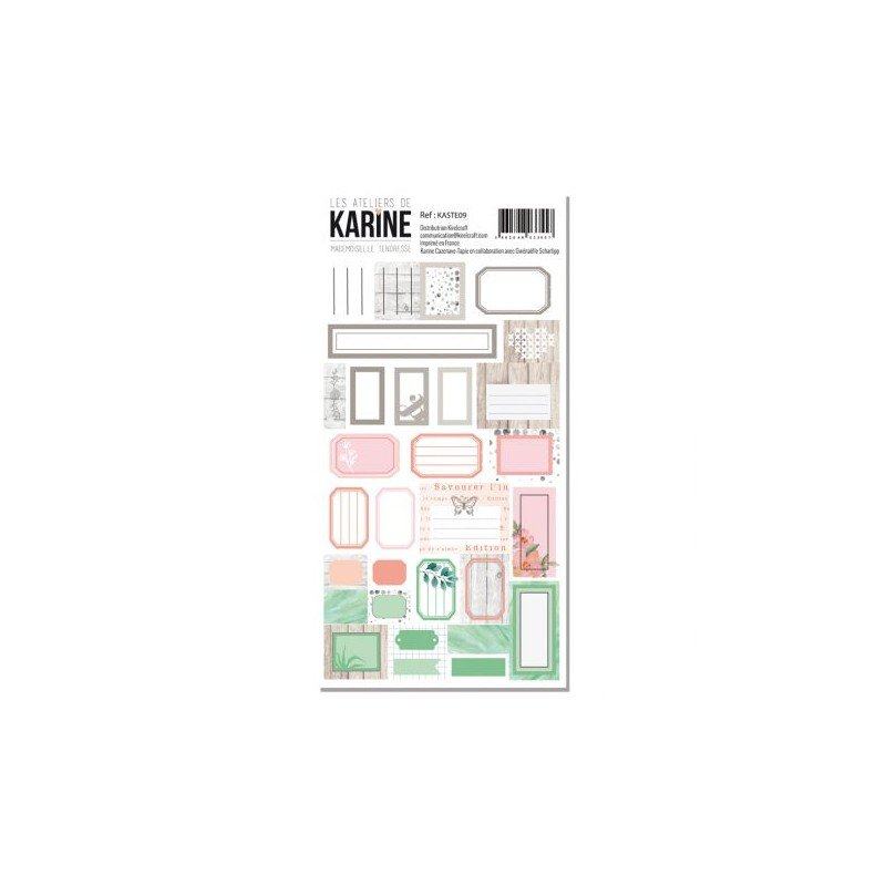 Autocollants Les Ateliers de Karine Mademoiselle Tendresse Etiquettes