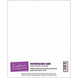 Lot de 15 feuilles A4 - Watercolor Card - Crafter's Companion
