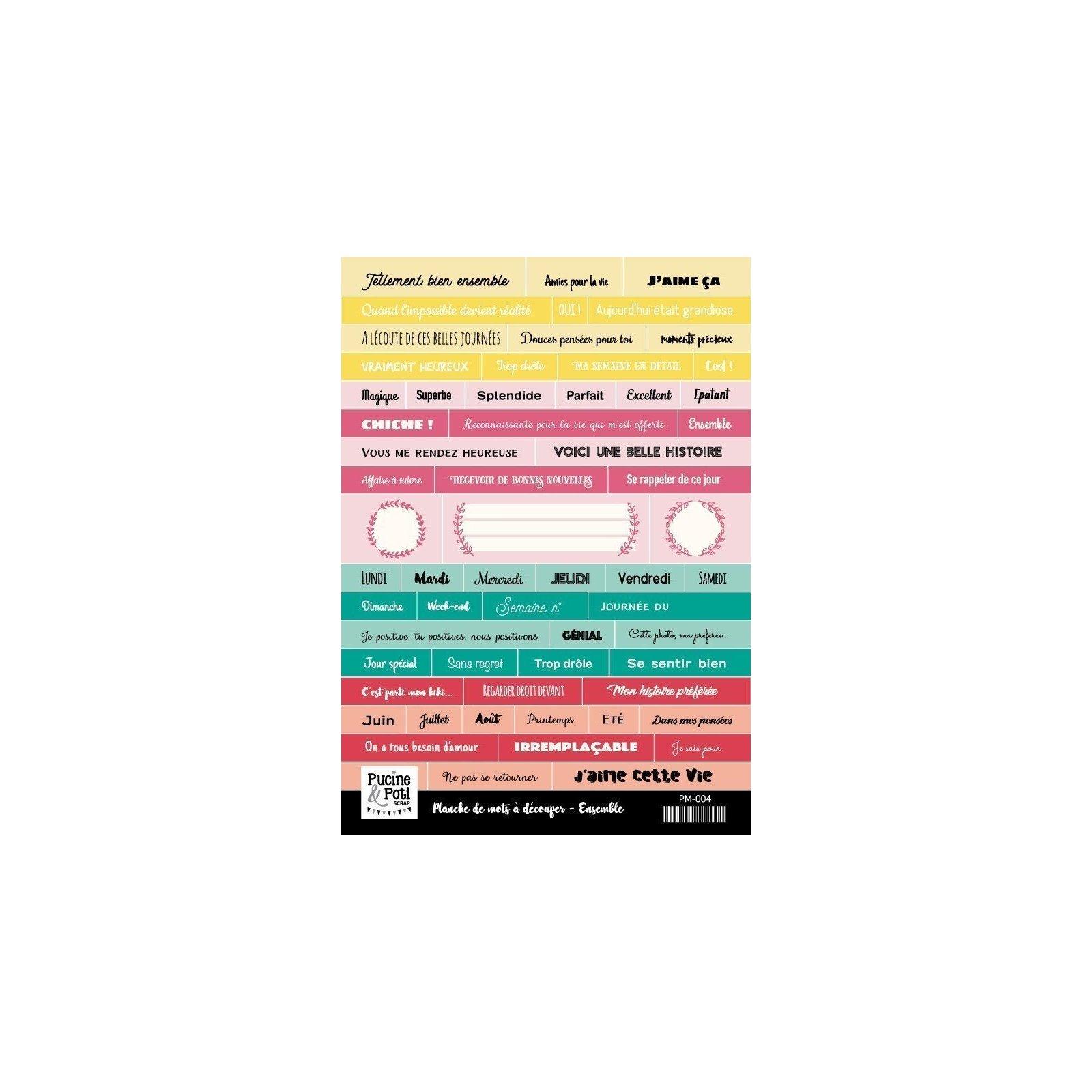 Planche de mots à découper - Ensemble - Pucine & Poti