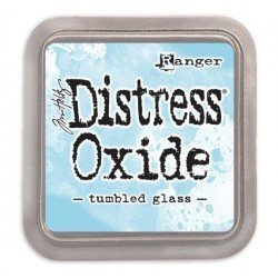 Grand encreur bleu Distress Oxide - Tumbled Glass - Ranger