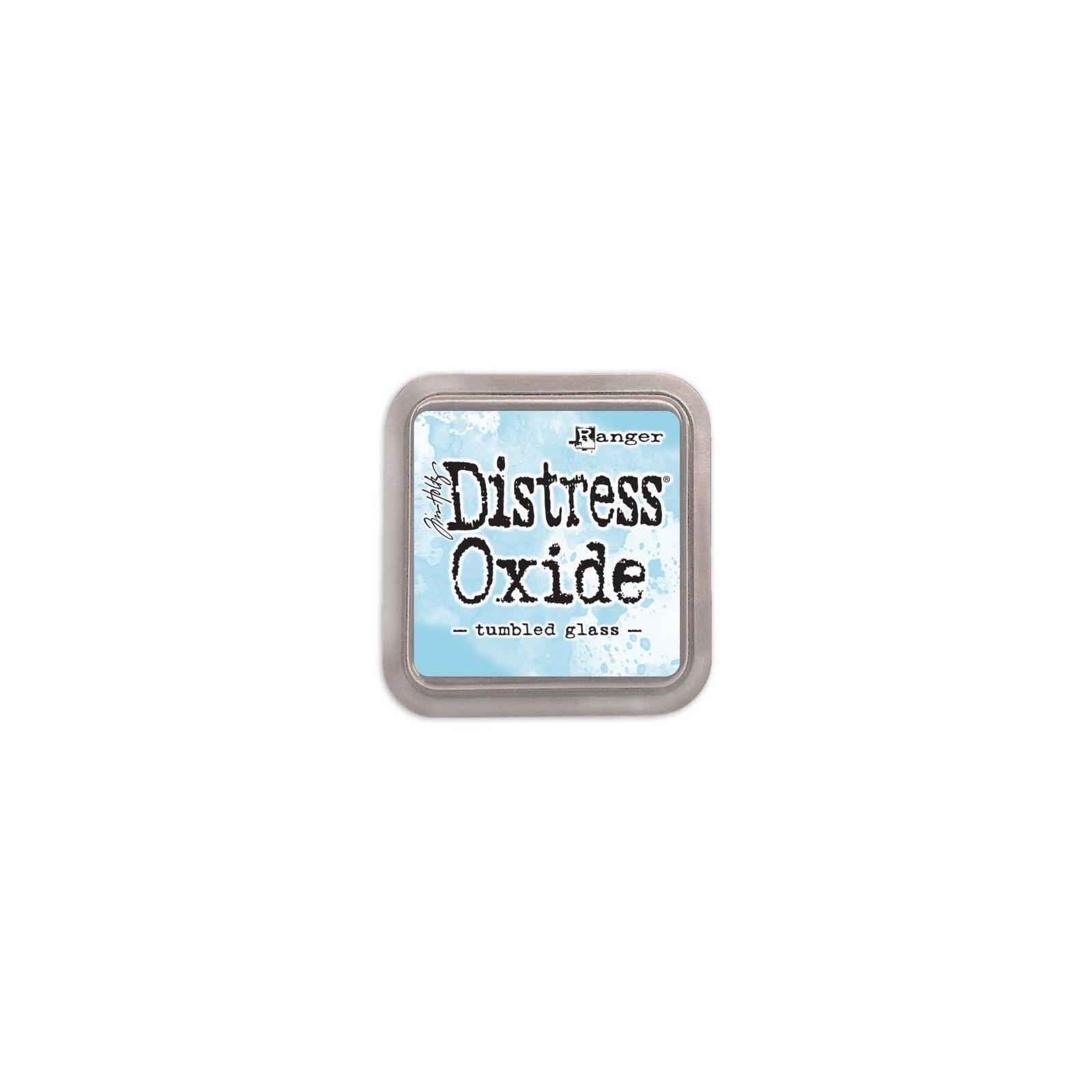 Grand encreur bleu Distress Oxide - Tumbled Glass - Ranger
