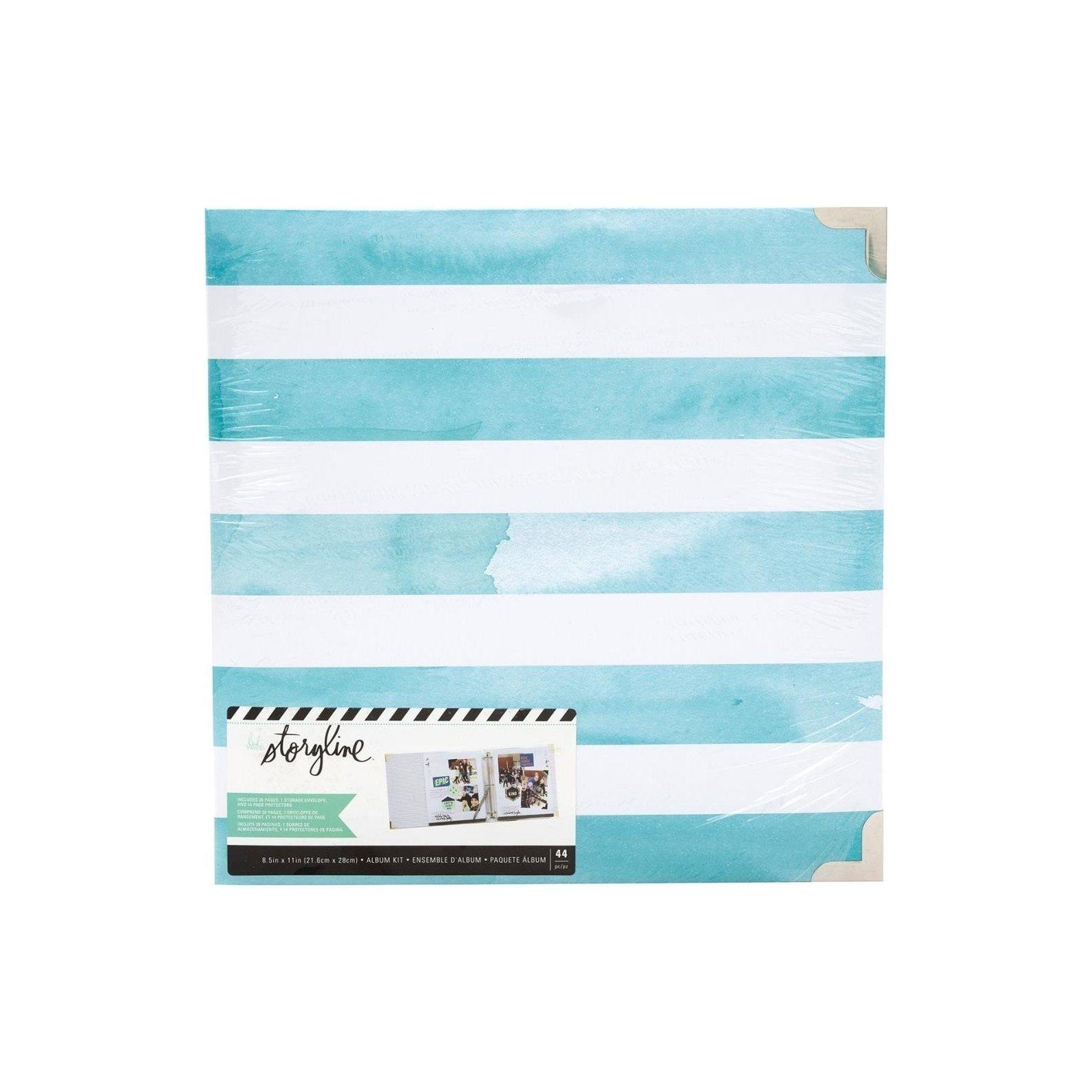 Album Watercolor Stripe - A4 américain - Storyline - Heidi Swapp