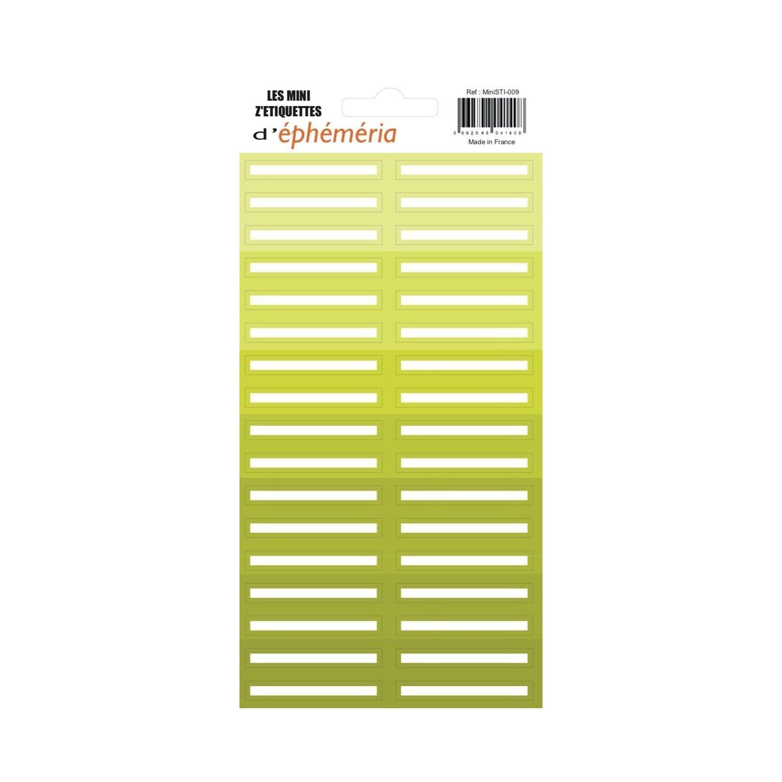 Les mini z'étiquettes - Nuances d'anis - Ephemeria