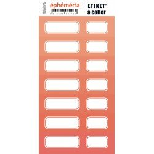 Planche d'étiquettes auto-collantes - Corail intense - Ephemeria