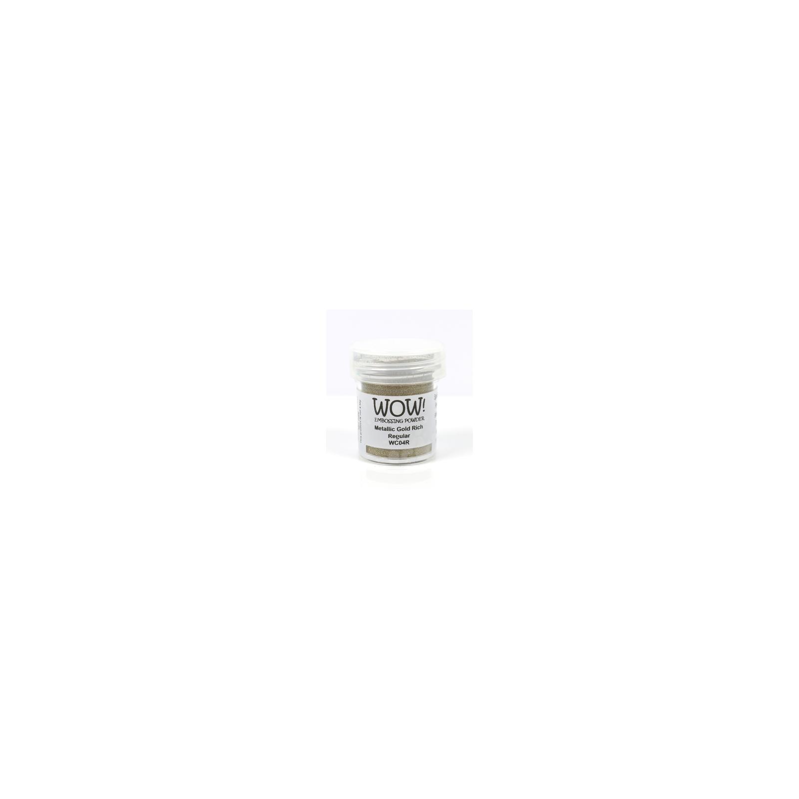 Poudre à embosser - Metallic Gold Rich - Regular - WOW!