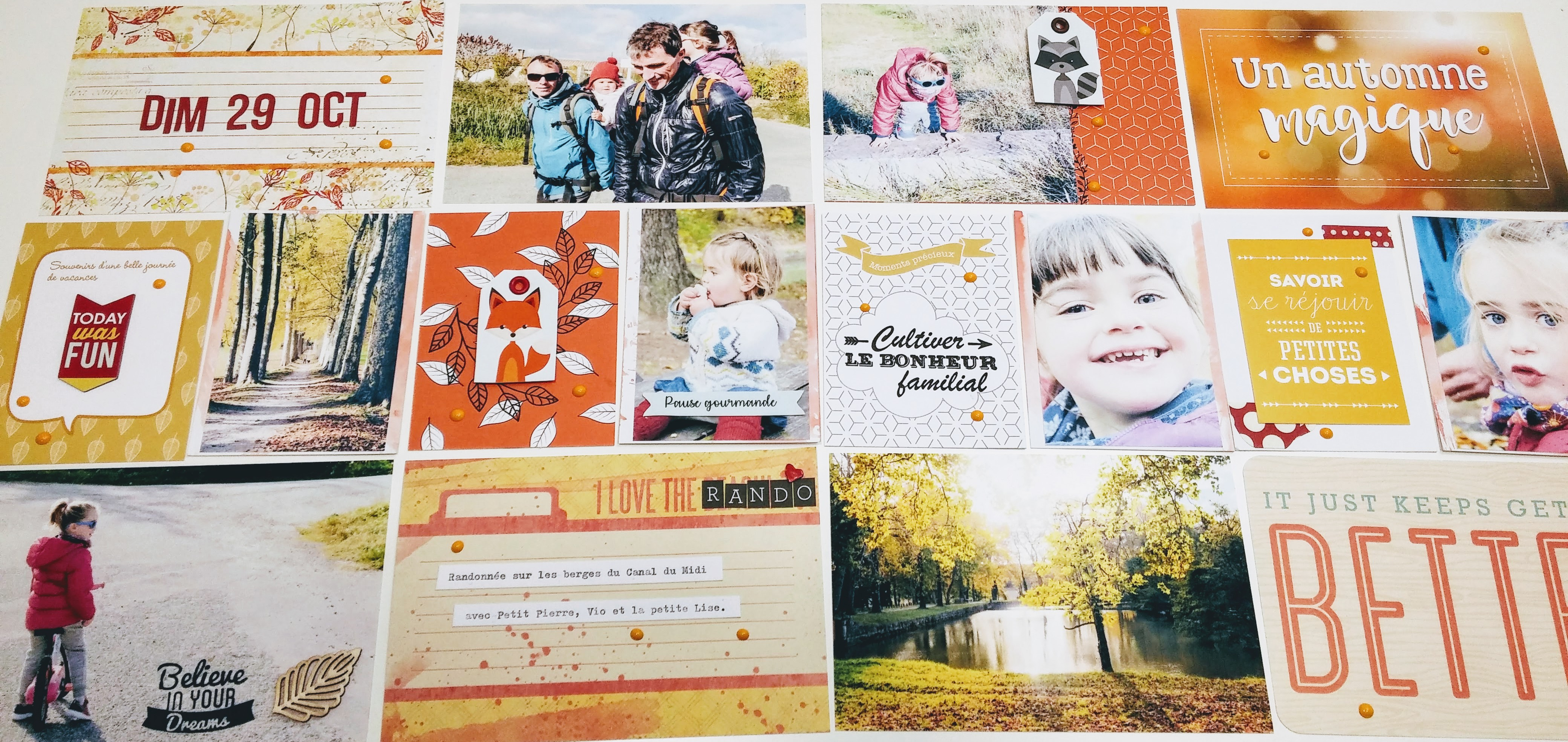 Project Life automne rouge, jaune et orange