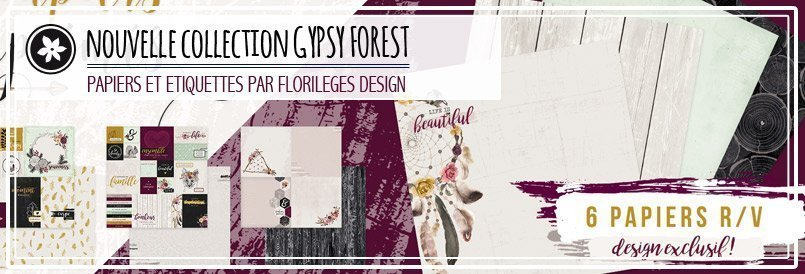 Nouvelle collection de papiers de scrapbooking par Florilèges Design