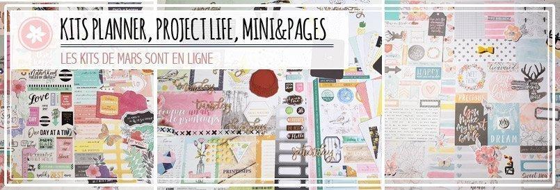 Kits de scrapbooking : planner, Project life, Mini&pages