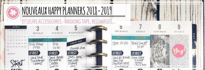 Nouveaux Happy Planners 2018-2019