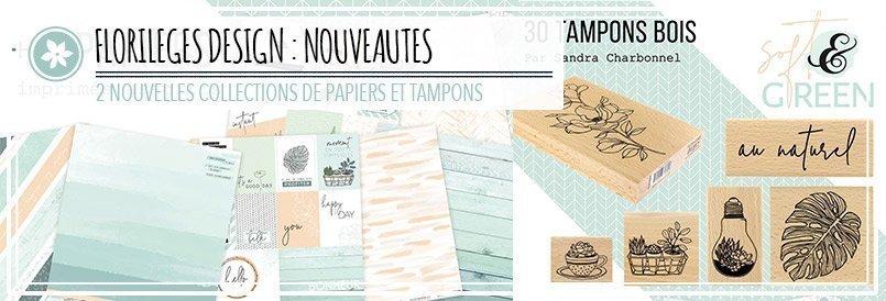 Nouveaux papiers de scrapbooking et tampons par Florilèges Design