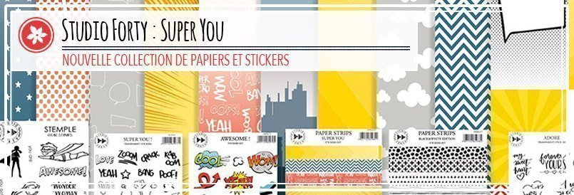 Papiers et stickers de scrapbooking